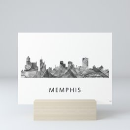 Memphis, Tennessee Skyline WB BW Mini Art Print
