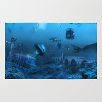 submarine Area & Throw Rugs featuring Submarine by Misko Stanisic