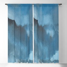 Shades of Blue Watercolor Blackout Curtain
