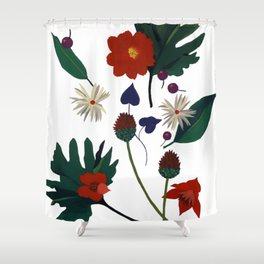 For Christmas songs Shower Curtain
