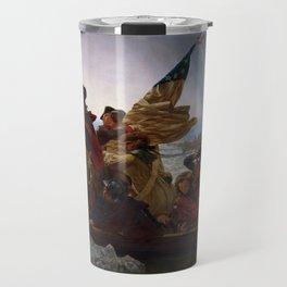 Washington Crossing the Delaware Painting Travel Mug