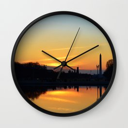 Sunset On Capitol Hill Wall Clock