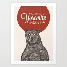 Bear from Yosemite Art Print