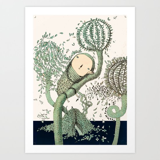 My Green Memory Art Print