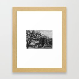 Country Drive Framed Art Print