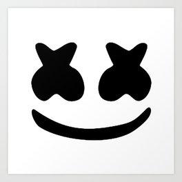 Marshmello face Art Print