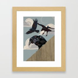 Invasion of the Crows Framed Art Print