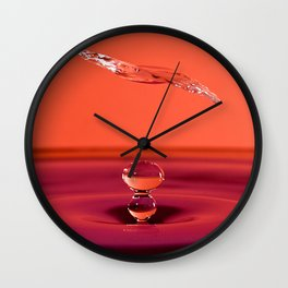 Water Drop Collision Wall Clock