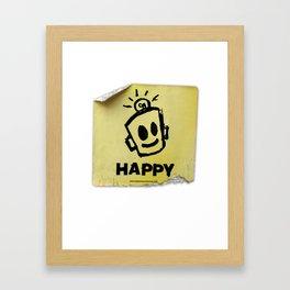 The Happy Sticker Framed Art Print