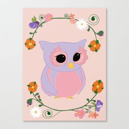 Owl Watch Over You Canvas Print