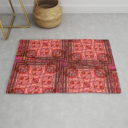 no. 197 orange pink pattern Rug