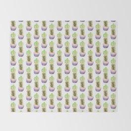 Papercraft Cactus in Green Throw Blanket