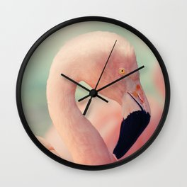 Pastel Flamingo Wall Clock