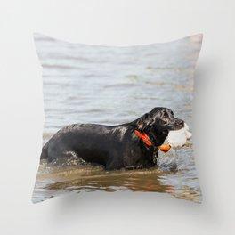 Black Labrador Retriever 5 Throw Pillow