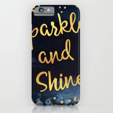 Sparkle And Shine Gold And Black Ink Typography Art Slim Case iPhone 6s