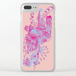 magenta tears Clear iPhone Case