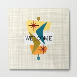 Mid Century Modern Welcome 1a Metal Print