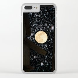 (Rustic) The Door into Space Clear iPhone Case