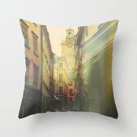 stockholm Throw Pillows featuring Stockholm by Viviana Gonzalez