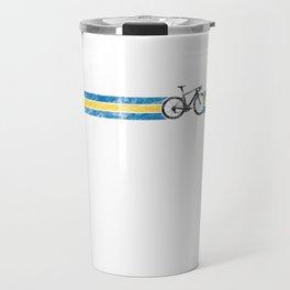 Cyclist Flag Sweden Swedish SE Bike Race Cycling Black Travel Mug