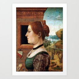 Maestro delle Storie del Pane Portrait of a Woman Art Print