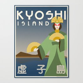 Kyoshi Island Travel Poster Canvas Print