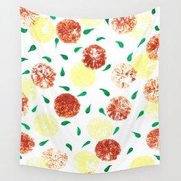 Lemon stamping pattern Wall Tapestry