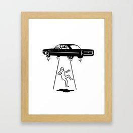 car abduction of aliens Framed Art Print