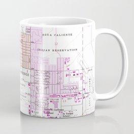 Vintage Map of Palm Springs California (1957) 2 Coffee Mug