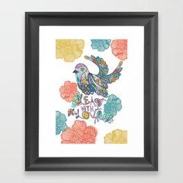 Lead With Love Framed Art Print