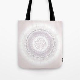 Floral Damask Mandala Blush White Tote Bag