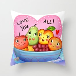 Love stickers Throw Pillow