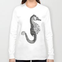 seahorse Long Sleeve T-shirts featuring SEAHORSE by VOLPINE