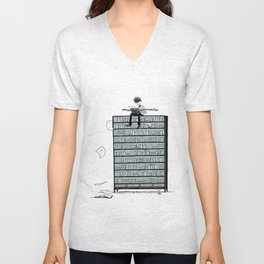 LITTLE DREAMS, BIG BOOKCASE Unisex V-Neck