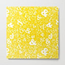 Ampersands - Yellow Metal Print