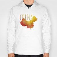 china Hoodies featuring China by Stephanie Wittenburg