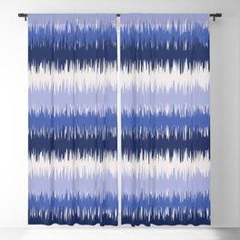 Abstract Blue Hues Ocean Waves Blackout Curtain