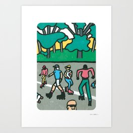 CENTRAL PARK DANCE SKATERS Art Print