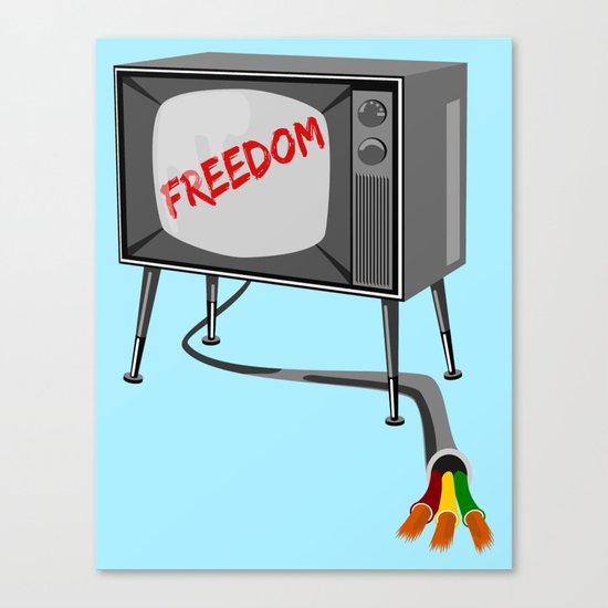 Freedom Television Canvas Print