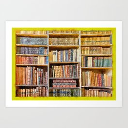books background in watecolor style Art Print