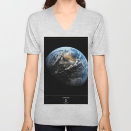 NASA Hubble Space Telescope Poster - Hubble Views of the Universe - Earth Unisex V-Neck