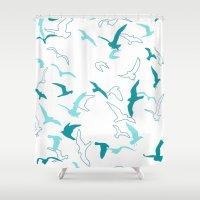 flight Shower Curtains featuring Flight  by Norman Duenas