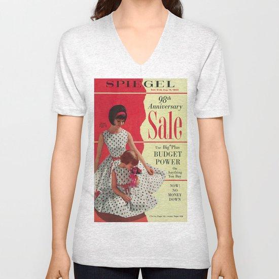 1963 - 98th Anniversary Sale -  Summer Catalog Cover Unisex V-Neck