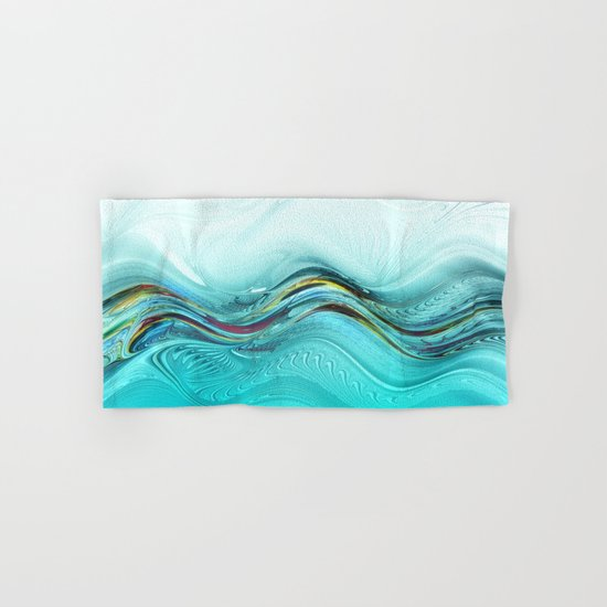 Fractal Wave Hand & Bath Towel