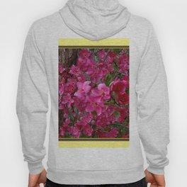 FUCHSIA PURPLE CRAB APPLE FLOWERS  FLORAL ART Hoody