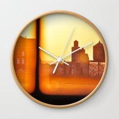 Fire Outside The Window Wall Clock
