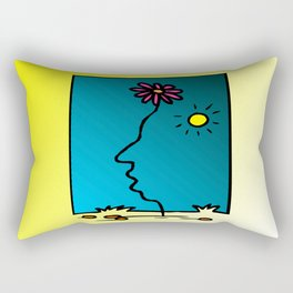 Flower face, Rectangular Pillow