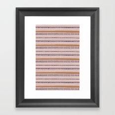 Pink & Orange Pattern Framed Art Print
