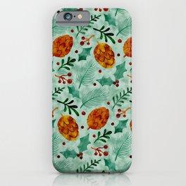 Winter Botanical iPhone Case