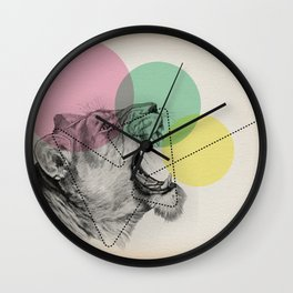 lioness line Wall Clock